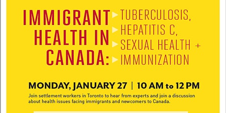 Immigrant Health In Canada tickets