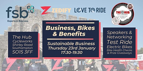 Business, Bikes & Benefits - January tickets