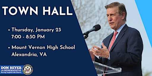 Congressman Don Beyer's Town Hall: January 23, 2020