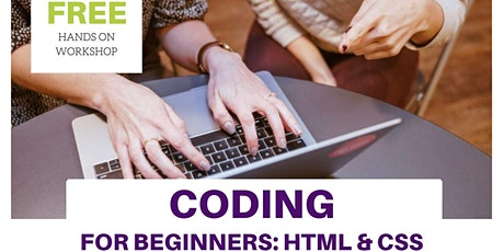 Coding for Beginners: HTML & CSS tickets