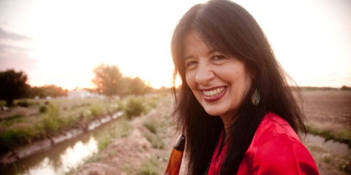 Joy Harjo at Sunken Garden Poetry Festival with Tupelo Winner Dujie Tahat