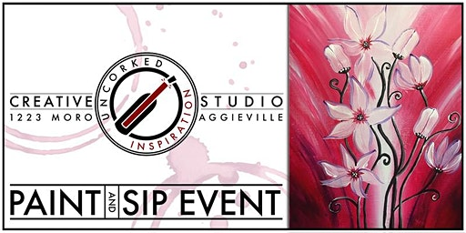 Paint & Sip | Red & White Lillies