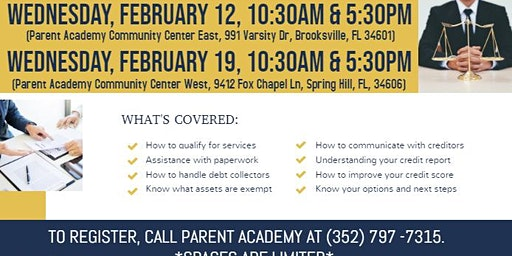 Dealing With Debt? - Consumer Credit Advice Workshop