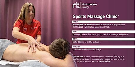 Sport Massage Clinic  tickets