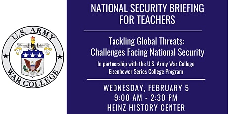 National Security Briefing for Teachers tickets