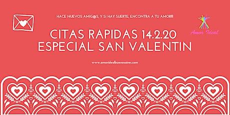 "Citas Rápidas ""San Valentin"" 33/44 & 45/56 entradas"