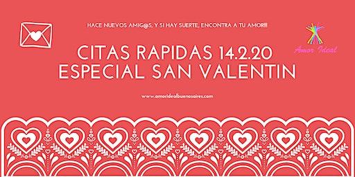 """Citas Rápidas """"San Valentin"""" 33/44 & 45/56"""