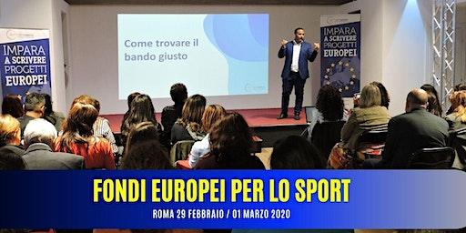 CORSO FONDI EUROPEI PER LO SPORT – 29/01 Marzo 2020