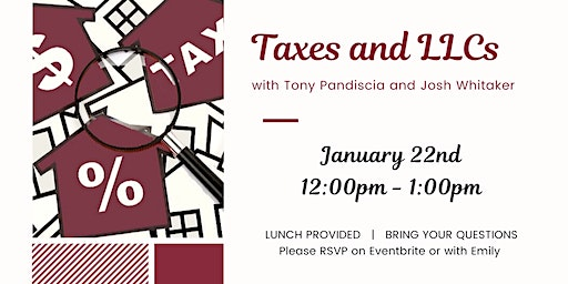 Taxes and LLCs with Josh Whitaker and Tony Pandiscia