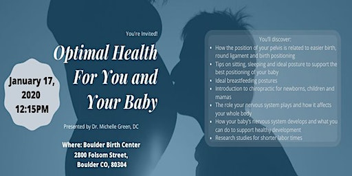 Optimal Health For You and For Your Baby