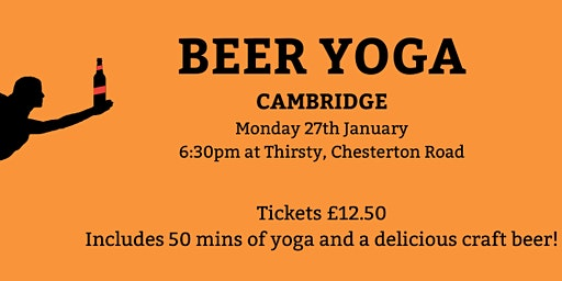 Beer Yoga - Cambridge - Mon 27th Jan - 6:30pm