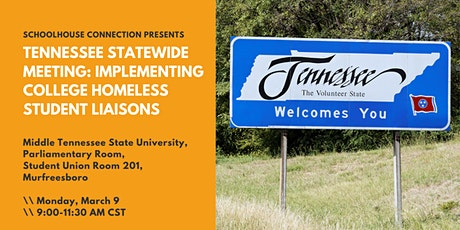 Implementing College Homeless Student Liaisons in Murfreesboro, Tennessee tickets