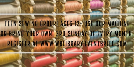 Teen Sewing Sunday tickets
