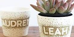 Sharpie Initial Flower Pot Craft
