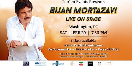 Bijan Mortazavi Live on Stage in Washington DC tickets