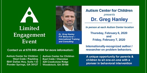 Autism Center for Children brings behavior expert Dr. Greg Hanley to ATL