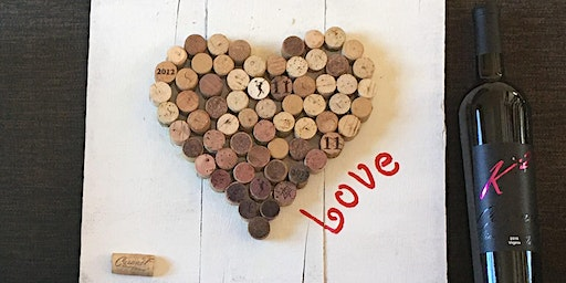 Cork Art! Heart Pallet Crafting Class with Dawn Spruill