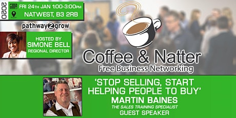 Birmingham Coffee & Natter - Free Business Networking Fri 24th Jan 2020 tickets