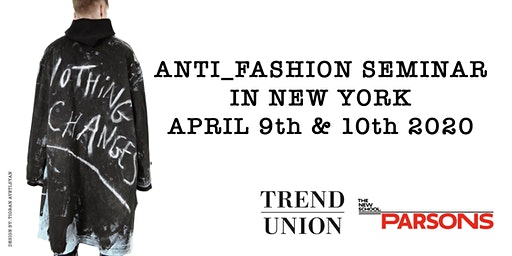 Anti_Fashion seminar in New York!