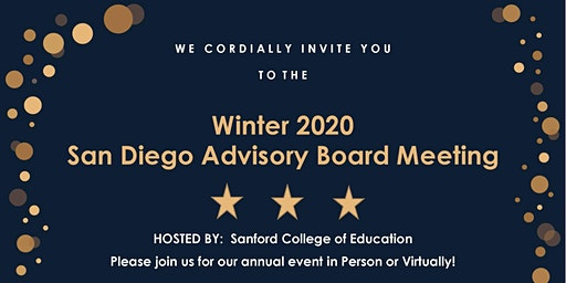 Winter 2020 San Diego Advisory Board Meeting