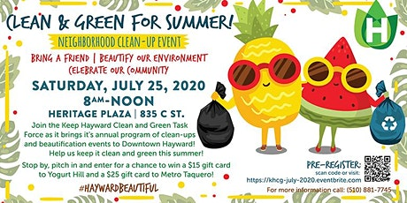 July, 25 2020 Neighborhood Clean-up Event tickets