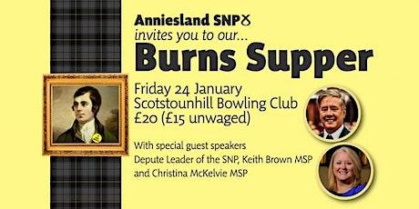 Anniesland SNP Burns Supper tickets