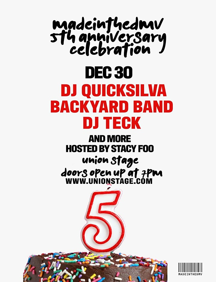Backyard Band and DJ Quicksilva with MadeInTheDMV 5th Anniversary image
