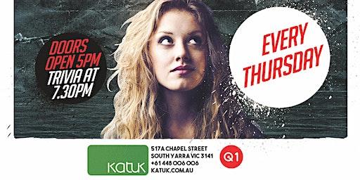 FREE TRIVIA - Every Thursday at Katuk!