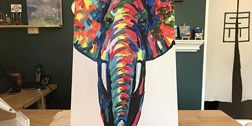 THINGS TO DO -PAINT & SIP EVENT: ELEPHANT