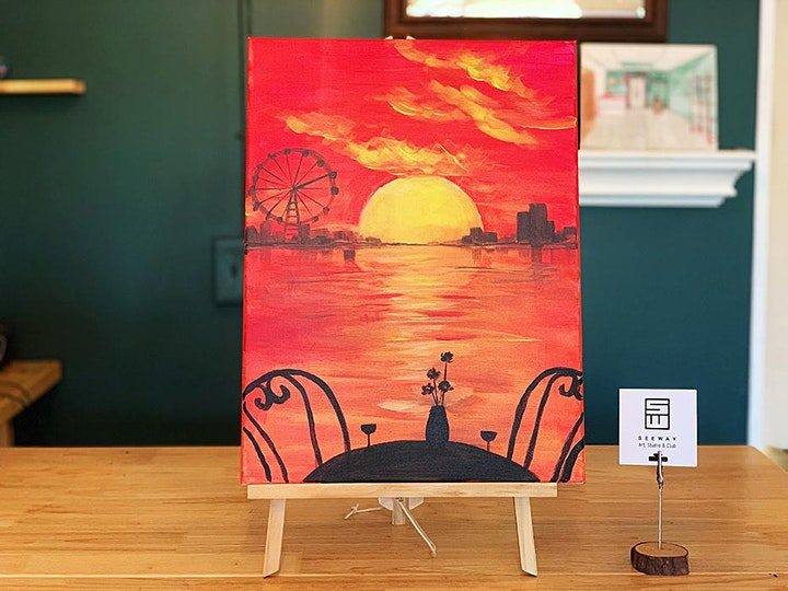 Things To Do Paint Sip Event Fiery Sunset Tickets Sat