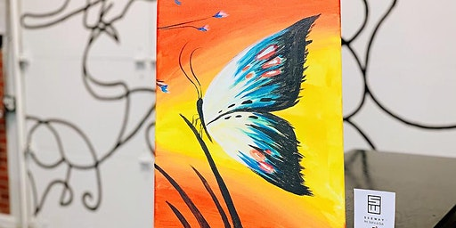 NIGHTLIFE -PAINT & SIP EVENT: BUTTERFLY
