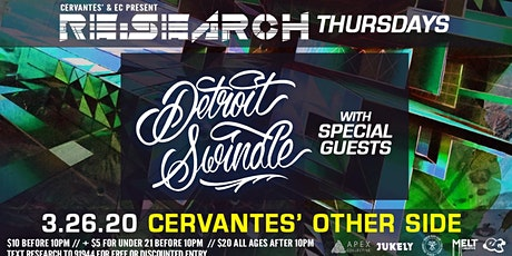 RE:Search ft. Detroit Swindle w/ Special Guests tickets