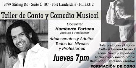 Taller de Canto y de Voz con Humberto Fortuna boletos