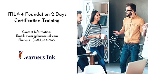 ITIL®4 Foundation 2 Days Certification Training in Tucson
