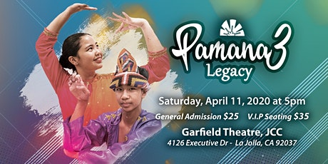 """Concert of Philippine Dances & Music - PAMANA 3 - """"Legacy"""" tickets"""
