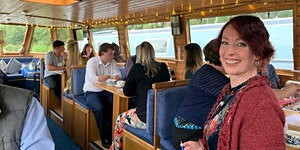 Business networking on a Canal Boat, Hoghton - by...
