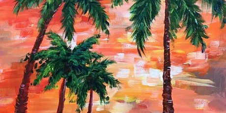 Paint and wine 'Impressionist Palm Trees' at The Benchmark tickets