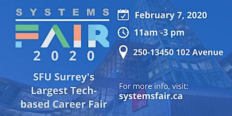 Systems Fair 2020 tickets