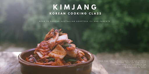 KOREAN ADOPTEE KIMCHI COOKING CLASS - A free, fun and informative event