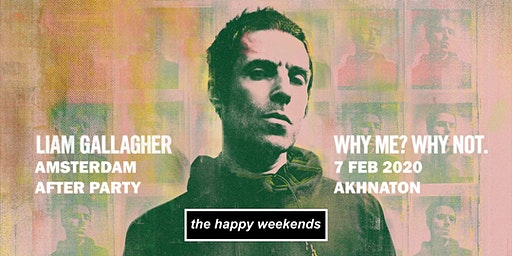 Liam Gallagher Amsterdam after party with The Happy Weekends