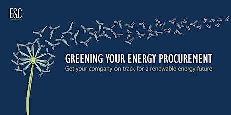 Greening your energy procurement (energy buyers' breakfast meeting) tickets