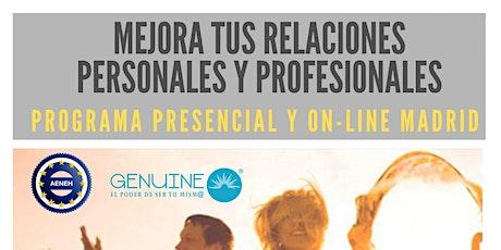 PROGRAMA presencial /on-line MEJORA TUS RELACIONES PERSONAS Y PROFESIONALES entradas