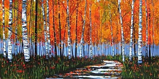 Birch Forest - Social Art Class