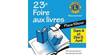 La 23e  FOIRE AUX LIVRES des Clubs Lions de la Métropole ! billets