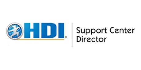 HDI Support Center Director 3 Days Training in Cambridge tickets