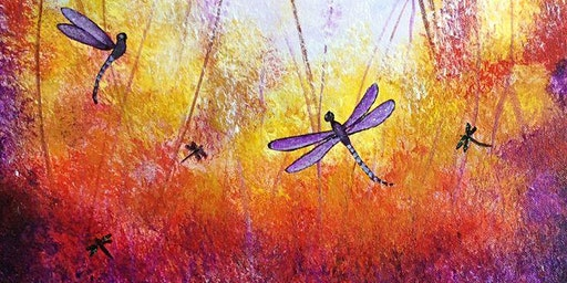 Dragonflies in Purple - Social Art class