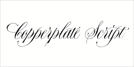 Copperplate Script tickets