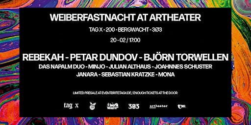 Weiberfastnacht at Artheater: Rebekah - Petar Dundov - Björn Torwellen