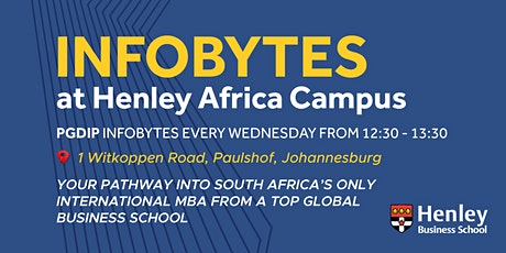 Postgraduate Diploma - InfoByte | #HenleyAfrica tickets