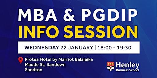 MBA & PGDip Information Session - Sandton | #HenleyAfrica